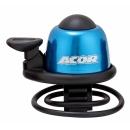 ACOR ABE-21101 Alu csengő gumis rögzítéssel (kék)