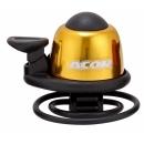 ACOR ABE-21101 Alu csengő gumis rögzítéssel (sárga)