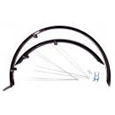 """Bikefun Wrap pálcás MTB kerékpár sárvédő szett 26"""" (fekete)"""