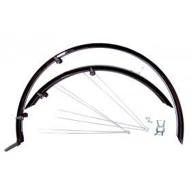 """BIKEFUN WRAP pálcás MTB kerékpár sárvédő szett (ezüst) 26"""""""