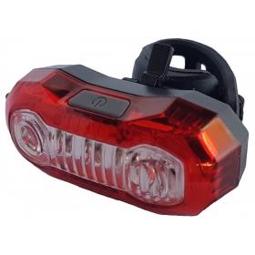 VELOTECH hátsó lámpa / villogó 3+2x0,5W
