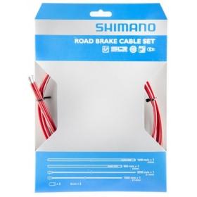 SHIMANO PTFE fékbowden szett piros
