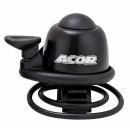 ACOR ABE-21101 Alu csengő gumis rögzítéssel (fekete)