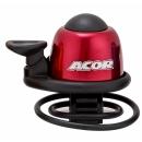 ACOR ABE-21101 Alu csengő gumis rögzítéssel (piros)