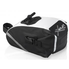 """XLC BA-W10 nyeregtáska """"M"""" méret (fekete/fehér)"""