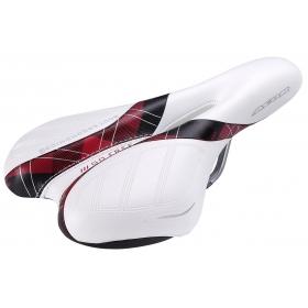 ACOR ASD-21205 komfort nyereg (fehér-piros-fekete mintás)