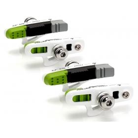 XLC BS-R05 országúti fékpofa 4db-os szett (zöld/szürke/fehér)