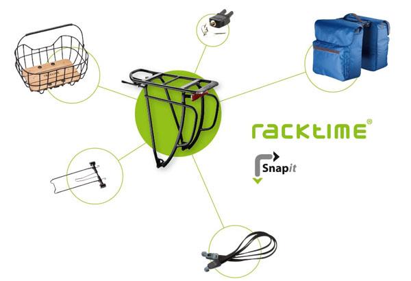 Racktime rögzítési rendszer kerékpár csomagtatóra