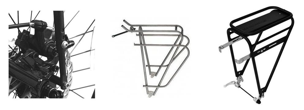 Kerékpár csomagtartók és rögzítések