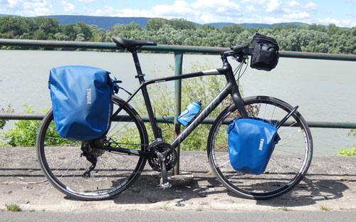 Merida Speeder túra kerékpárrá alakítva